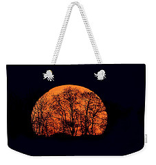 Harvest  Moon Rising Weekender Tote Bag