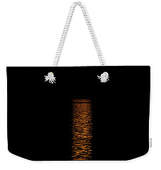 Weekender Tote Bag featuring the photograph Harvest Moonrise by Paul Freidlund