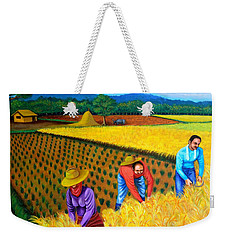 Weekender Tote Bag featuring the painting Harvest Season by Cyril Maza