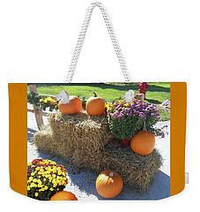 Weekender Tote Bag featuring the photograph Harvest Time  by Irina Sztukowski