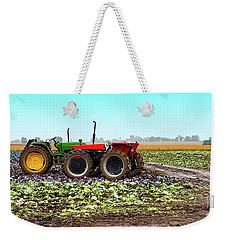 Weekender Tote Bag featuring the photograph Harvesting Time In Wisconsin  by Ricky L Jones