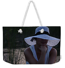 Hat At Sunset Weekender Tote Bag