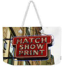 Weekender Tote Bag featuring the painting Hatch Show Print by Sandy MacGowan