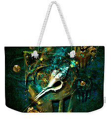Weekender Tote Bag featuring the painting Hatpin by Alexa Szlavics