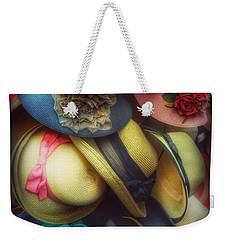 Hats - A Cornucopia Of Color Weekender Tote Bag by Miriam Danar