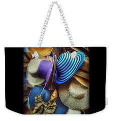 Hats Of Yesteryear Weekender Tote Bag by Miriam Danar