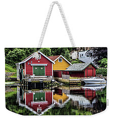 Haugesund Reflections Weekender Tote Bag by Shirley Mangini