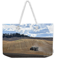 Hauling The Harvest From The Fields. Weekender Tote Bag
