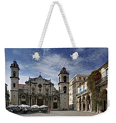 Havana Cathedral. Cuba Weekender Tote Bag
