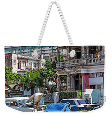 Weekender Tote Bag featuring the photograph Havana Cuba by Charles Harden