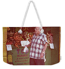 Weekender Tote Bag featuring the photograph Havana Cuba Corner Market by Joan Carroll