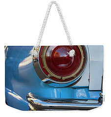 Weekender Tote Bag featuring the photograph Havana Cuba Vintage Car Tail Light by Joan Carroll