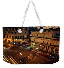 Weekender Tote Bag featuring the photograph Havana Nights by Joan Carroll