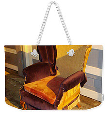 Weekender Tote Bag featuring the photograph Have A Seat In Dore Alley by Mr Photojimsf