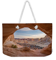 Weekender Tote Bag featuring the photograph Haven by Dustin LeFevre