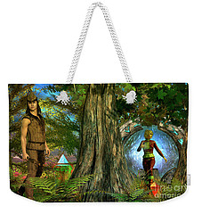 Weekender Tote Bag featuring the digital art Haven by Shadowlea Is