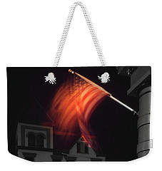 Weekender Tote Bag featuring the photograph Waving Flag In Easton by Mike McGlothlen