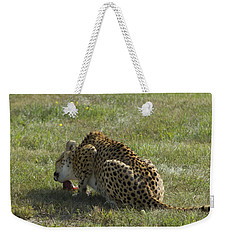 Having Lunch Weekender Tote Bag