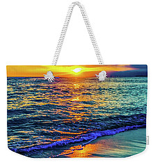 Weekender Tote Bag featuring the photograph Hawaii Beach Sunset 149 by D Davila