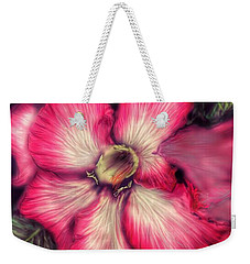 Weekender Tote Bag featuring the digital art Hawaii Flower by Darren Cannell