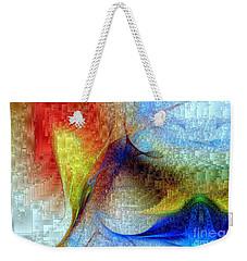 Weekender Tote Bag featuring the digital art Hawaii - Island Of Fire by Rafael Salazar