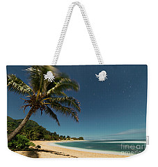 Hawaii Moonlit Beach Wainiha Kauai Hawaii Weekender Tote Bag