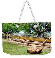 Hawaiian Canoe At Lahainaluna High School Weekender Tote Bag