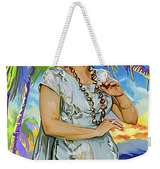 Hawaiian Dance Weekender Tote Bag
