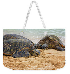 Hawaiian Green Sea Turtles 1 - Oahu Hawaii Weekender Tote Bag