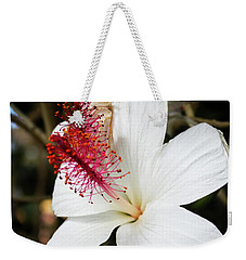 Weekender Tote Bag featuring the photograph Hawaiian Hibiscus  by Joann Copeland-Paul