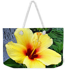Hawaiian Hibiscus Weekender Tote Bag by Sue Melvin