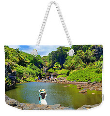 Weekender Tote Bag featuring the photograph Hawaiian Sacred Pools by Michael Rucker