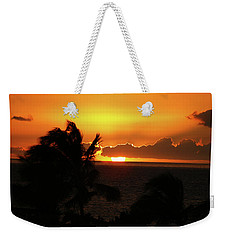 Weekender Tote Bag featuring the photograph Hawaiian Sunset by Anthony Jones