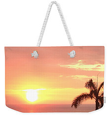 Weekender Tote Bag featuring the photograph Hawaiian Sunset by Karen Nicholson