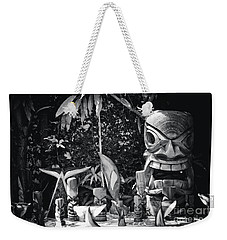 Weekender Tote Bag featuring the photograph Hawaiian Tiki Carvings by Sharon Mau