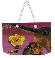 Hawaiian Ukulele Weekender Tote Bag