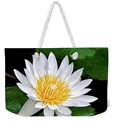 Hawaiian White Water Lily Weekender Tote Bag by Sue Melvin