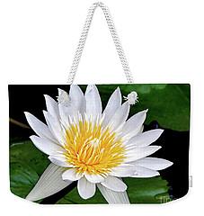 Hawaiian White Water Lily Weekender Tote Bag
