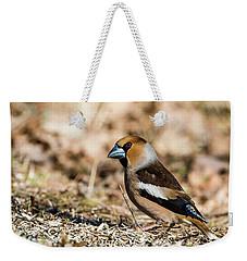 Hawfinch's Gaze Weekender Tote Bag by Torbjorn Swenelius