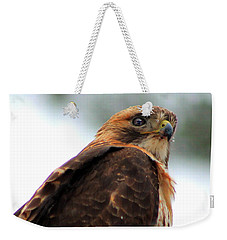 Weekender Tote Bag featuring the photograph Hawk by Bruce Patrick Smith