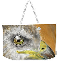 Weekender Tote Bag featuring the digital art Hawk by Darren Cannell