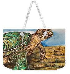 Hawkbilled Sea Turtle Weekender Tote Bag
