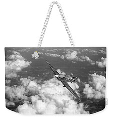Weekender Tote Bag featuring the photograph Hawker Hurricane IIb Of 174 Squadron Bw Version by Gary Eason