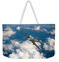 Weekender Tote Bag featuring the photograph Hawker Hurricane IIb Of 174 Squadron by Gary Eason