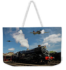 Hawker Hurricanes Beating Up A Goods Yard Weekender Tote Bag