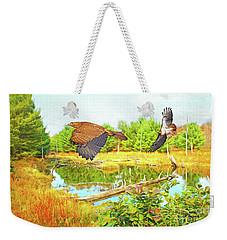 Hawks On The Prowl Weekender Tote Bag