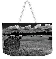 Hay Bales And Clouds Weekender Tote Bag