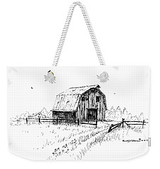 Hay Barn With Broken Gate Weekender Tote Bag