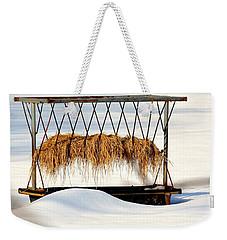 Hay Feeder In Winter Weekender Tote Bag
