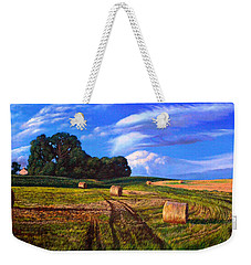 Hay Rolls On The Farm By Christopher Shellhammer Weekender Tote Bag